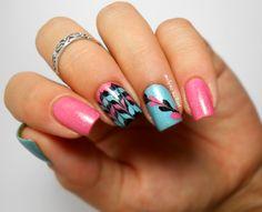 Drag nails ou No water marble nails I love Nail Polish http://melyne-nailart.com/2014/08/22/drag-nails-ou-no-water-marble-i-love-nail-polish/