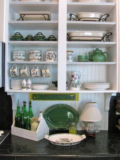 MAY DAYS: Adding Beadboard to Cabinets and Backsplash
