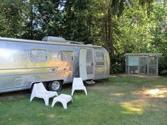 Gutted/renovated 1974 Airstream (same year/model as our Airstreamy)