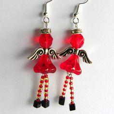 Stripey Stockings Angel Earring Kit - Beads                                                                                                                                                      More