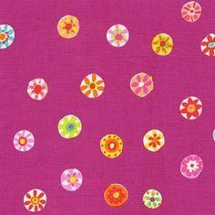 Sarah Campbell - Melodies - Folk Floral Dot in Fuschia