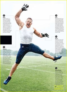 NFL Superstar J.J. Watt Is Shirtless & Ripped for 'Men's Health'!