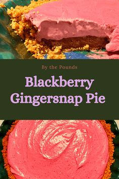 Crispy Cookies, Ginger Snap Cookies, Cookie Crust, Ginger Snaps, Chocolate Ganache, Melted Butter, Pie Dish, Blackberry, Brown Sugar