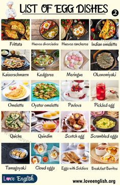 Egg Dishes: Delicious Types of Egg Dishes You Will Want to Try - Love English Egg Recipes, Indian Food Recipes, Vegetarian Recipes, Healthy Recipes, Types Of Egg Dishes, Greatest Lasagna Recipe, Cartoon Recipe, Fun Cooking, Cooking Recipes