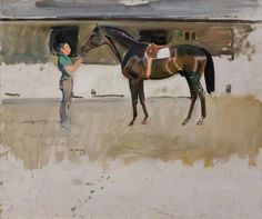 Study of J. B. Rank's Horse, 'Jock', Druids' Lodge by Alfred James Munnings