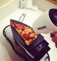 Heating Pizza on Your Iron  ~ 20 Randomly Cool Pics & Memes