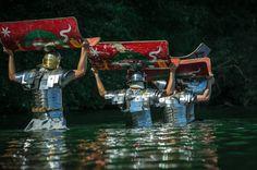 Roman legion marines. Legio XXI Rapax - historical reenactment of Roman legions. Rekonstrukcja historyczna rzymskich legionów