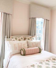 Guest Room Decor, Bedroom Decor, Dream Bedroom, Girls Bedroom, Little Girl Rooms, New Room, Interior Design, Playroom Curtains, Sadie Jane