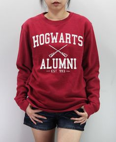 HOGWARTS ALUMNI Shirt Harry Potter Shirt Sweatshirt Sweater Unisex - silk screen handmade on Etsy, $24.99