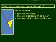 Afbeeldingsresultaat voor eigenschappen diagonalen rechthoek