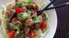 Five Spice Pork & Veggies with Udon Noodles (makes 4-6 servings; total cost per serving: $1.85)