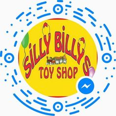 A code that you can scan to start a Facebook messenger conversation with Silly Billy's Toy Shop. Pretty neat.