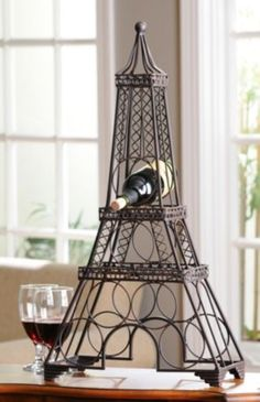 Eiffel Tower Wine Rack- help her wine down and enjoy her day #kirklands #celebratingmom! #winerack