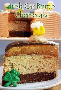 Irish Cream Cheesecake and Guinness Cake & Irish Cream Mousse!