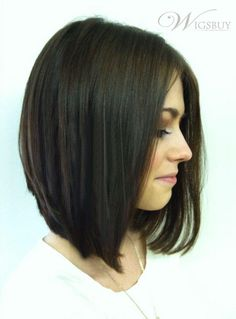 Clean a line bob but not super straight (btw this is a wig)