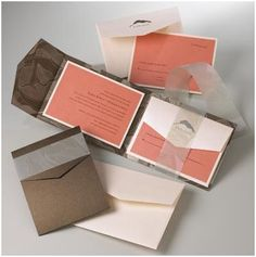 Coral Cafe Invitation Suite