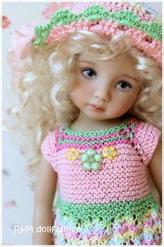 "R&M DOLLFASHION handknit set for Effner 13"" Kish 14"" DOLLMORE NARSHA BJD dolls"
