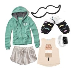 """""""Untitled #597"""" by xdsummerhotdogz ❤ liked on Polyvore featuring Leisureland, Lucky Brand, Hollister Co. and Apple"""