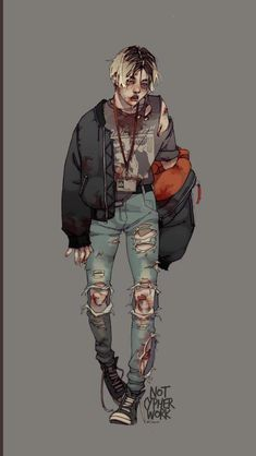 Drawn Art, Arte Cyberpunk, Arte Obscura, Boy Art, Art Reference Poses, Character Design Inspiration, Aesthetic Art, Cool Drawings, Zombie Drawings