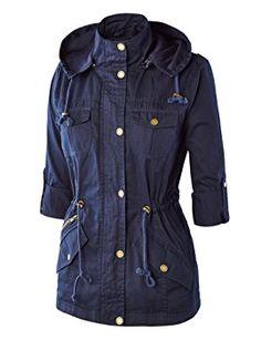 5492d27d75e2 MBJ Womens Military Anorak Safari Hoodie Jacket at Amazon Women s Coats Shop