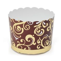 Welcome Home Brands-Refuned Baking Cups-Brown and Gold Vine