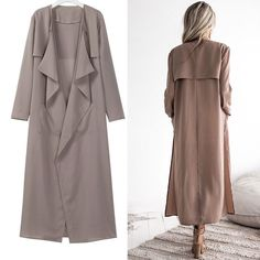 Women's Lady Long Waterfall Coat Jacket Cardigan Overcoat Outwear Jumper Clothes: $13.99 End Date: Friday Oct-19-2018 19:19:12 PDT Buy It… Abaya Fashion, Muslim Fashion, Skirt Fashion, Fashion Dresses, Modest Outfits, Cool Outfits, Waterfall Coat, Jumper Outfit, Dress Sewing Patterns