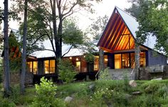 HK Architects just unveiled their rustic cabin on the Tellico River in Tennessee.