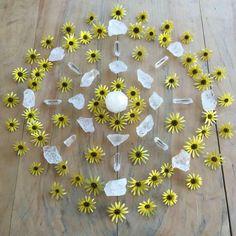 Flower and crystal mandala