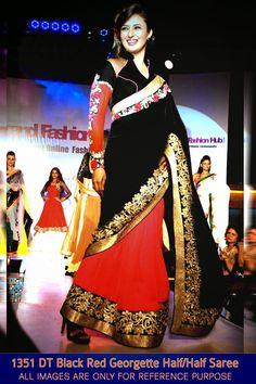 Divyanka Tripathi Half Half Georgette Saree