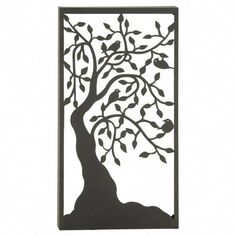 Create a rustic, whimsical look for your patio or porch with the DecMode 22 x 41 in. Metal Tree Outdoor Wall Plaque made from sturdy iron surrounded. Metal Tree Wall Art, Metal Wall Decor, Metal Art, Outdoor Trees, Outdoor Wall Art, Outdoor Decor, Tree Wall Decor, Art Decor, Tree Artwork