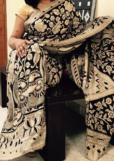 gorgeous Black and offwhite Kalamkari