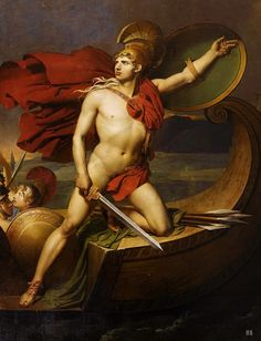 The Disembarkation of Achilles in Troy. Bon Thomas Henry. French. 1766-1836. oil on canvas