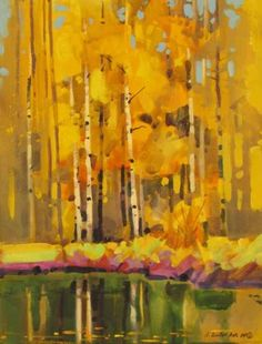 "Autumn Patterns Near Sunnyside #2 16"" X 12"" acrylic quiller"