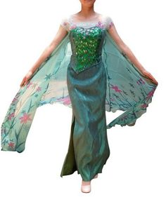 Dressed in Elsa Frozen Fever costumes for women Moms can greatly celebrate their darling daughter's birthday.