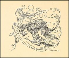 "Arthur Rackham ""Undine"" (1909) ""How Undine had come to the Fisherman"" Chapter II by Plum leaves, via Flickr"