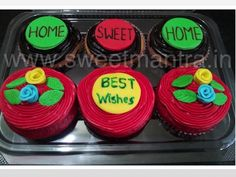 Homemade Eggless 3D/Custom Best Wishes theme cupcakes at Pashan, Pune