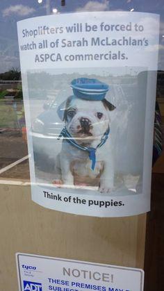 Best theft deterrent sign ever.