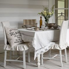 grey and white dining room | Grey-and-white-dining-room--Country-Homes-and-Interiors--Housetohome ...
