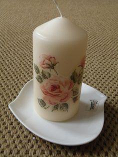 Decoupage candle by Lenka