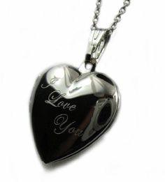 I Love You Heart Locket Pendant Necklace, 18 Ribbon Jewelry, Jewelry Box, Jewelry Watches, Jewelry Necklaces, I Love You, My Love, Silver Lockets, Heart Locket, Bling