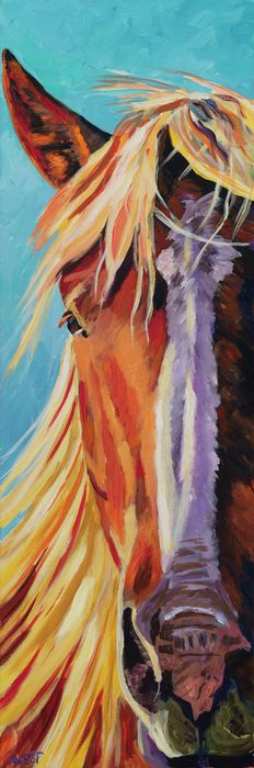 Diablo Painting  - Diablo Fine Art Print... knowing that God, who created the strength of a horse, lives in me gives me courage to walk confidently, and by His grace, into a life He has planned