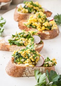 Recipe: Scrambled Eggs & Mustard Greens on Toast — Weekday Breakfast Recipes from The Kitchn