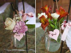 Country Wedding - Barn Wedding - Flowers #truro #wedding #inspiration #bride #masonjar #flowers #ideas
