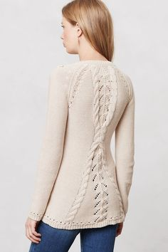 Anthropologie Aran Sweater