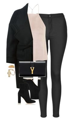 """Untitled #1157"" by lovetaytay ❤ liked on Polyvore featuring Topshop, Balmain, Yves Saint Laurent, Gianvito Rossi, Shaun Leane and Burberry"