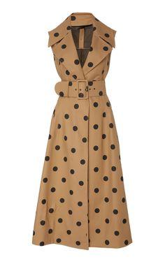 Polka Dot Cotton Midi Dress by Oscar de la Renta Look Fashion, Fashion Outfits, Womens Fashion, Dress Fashion, Fashion 2018, Gothic Fashion, Fashion Shoes, Day Dresses, Casual Dresses