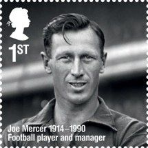 UK Royal Mail - Stamp honoring Joe Mercer, Football player and Manager Royal Mail Stamps, Uk Stamps, Postage Stamps, Football Soccer, Football Players, Mercer Football, Joe Mercer, Everton, The Republic