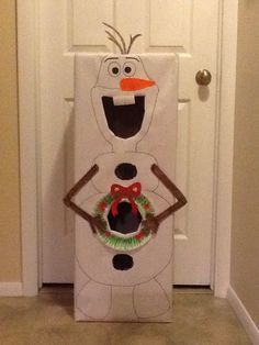 Olaf snowball toss game. Use indoor snowballs or he could melt.