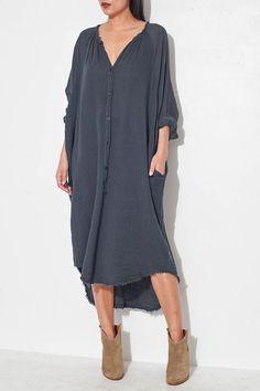 Black Poet Dress by Raquel Allegra   shopheist.com