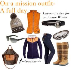 On a mission outfit- Winter Layers for Australia @ The Equestrianista